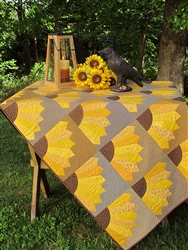 Dresden Sunflowers Quilt Kit