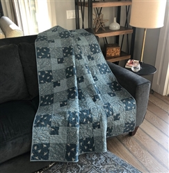 TEAL Farmhouse Plaid Quilt Kit