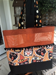 ORANGE PARTY CATS Halloween Tote Kit
