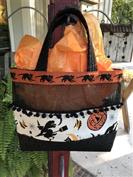 CREAM HAUNTING COLLAGE & CATS Halloween Tote Kit